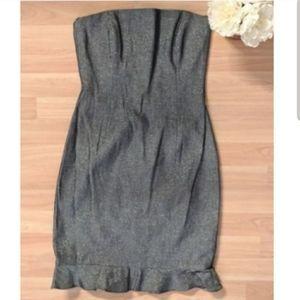 David Meister Strapless Mini Dress Short Party